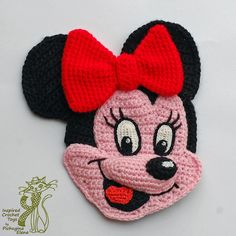 Crochê padrões apliques dos desenhos animados Simba Minnie remendo -  /   Crochet Patterns Cartoon Appliques Simba Minnie Patch -
