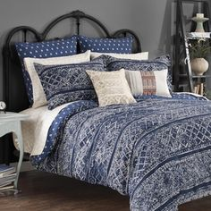Steve Madden Lani Cotton Reversible 3-piece Comforter Set