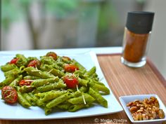 Me in blogland...: Recipe of the month - Pesto Walnut Pasta