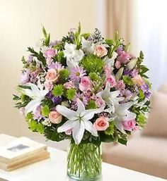 Sincerest Wishes Pastel Arrangement Remember a loved one with a stunning tribute arrangement. The elegance of pastel-colored roses, lilies, gladiolas, stock, snapdragons and more offers your heartfelt