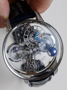 3873deea20e Jacob   Co. Astronomia Clarity   Black Watches Hands-On