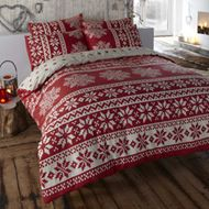 Cosy Christmas Bedding - Alpine Red Duvet Cover Set Double by Yorkshire Linen Red Duvet Cover, Quilt Cover, Duvet Cover Sets, Cover Pillow, Bed Covers, Christmas Time Is Here, Merry Little Christmas, Christmas Fun, White Christmas