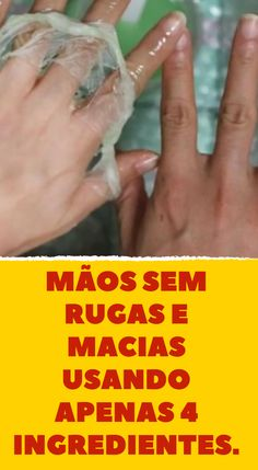 """"""""""" Mãos sem rugas e macias usando apenas 4 ingredientes. """""""" Hands without wrinkles and soft using only 4 ingredients. Simple Eyeshadow Tutorial, Free To Use Images, Homemade Cleaning Products, How To Apply Eyeshadow, For Lash, Short Bob Haircuts, Mo S, Belleza Natural, Facial Masks"""