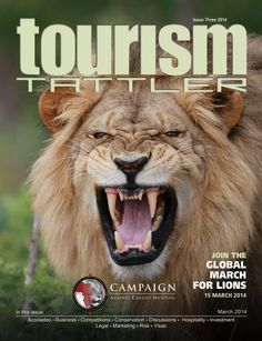 The March edition is dedicated to the 'King of Beasts', the African Lion and to the Campaign Against Canned Hunting, who are spearheading a 'Global March for Lions' on March 15th. We also feature 'Plan B for Rhino Conservation', a property review on Ocean Reef Hotel in Zinkwazi, South Africa, plus many more articles of interest for the travel trade in, and to Africa.