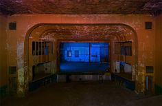 Brownwood's Lyric Theater was built in 1914 and closed in 1959. Here is a view of the stage from the balcony. Photo: Noel Kerns