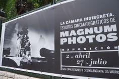 """Cartel de la Expo """"La Cámara Indiscreta"""" de Magnum Photos en la Sala Canal de Isabel II de Madrid.  #Cartel #Affiche #Arterecord 2014 https://twitter.com/arterecord"""