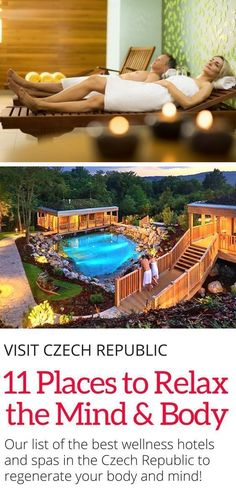 The top 11 wellness hotels and spas in the Czech Republic to rest your mind and body. Bubble baths, heated pools, outdoor whirlpools and saunas are all on the menu! Click here to discover the best places to relax in the country. #czechrepublic #europe #travel #spa