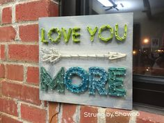 """Class project that I offer in my string art classes - measures 10"""" x 10"""". #stringart  Facebook.com/strungbyshawna"""