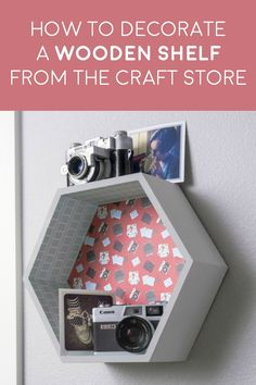 Learn how to decorate a shelf the easy way! If you see an unfinished wood shelf at the craft store, try this DIY option with paper in four easy steps. You'll get to paint a little too. No skills required! Easy Paper Crafts, Easy Diy Crafts, Diy Home Crafts, Crafts To Make, Fun Crafts, Peg Board Shelves, Wooden Shelves, Wood Shelf, Craft Items