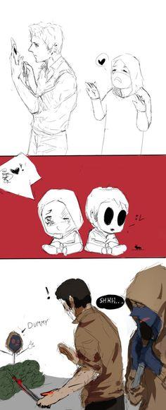 masky and hoodie