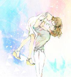 Kaito and aoko Conan, Anime Romans, Romantic Anime Couples, Gosho Aoyama, Kaito Kid, Greatest Mysteries, Magic Kaito, Case Closed, Love Illustration
