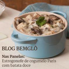 Vem aprender a preparar mais uma versão vegana de um prato tradicional. Faça hoje mesmo um estrogonofe tudo de Bemglô! ;)