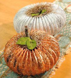Crafts n' things Weekly - painted dryer vent pumpkins