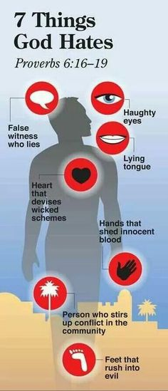 God is love and God loves us. But, He also hates. These are 7 of the things He hates