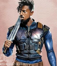 Drawing Marvel killmonger marvel fan art by artist tony santiago - Size: Black Panther Art, Black Panther Marvel, Black Art, Stan Lee, Golden Jaguar, Panther Pictures, Panther Images, Erik Killmonger, Black Comics
