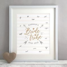 Bride Tribe Personalised Hen Party Guest Book Print by Bird & Key, the perfect gift for Explore more unique gifts in our curated marketplace. Easy Party Decorations, Bridal Shower Decorations, Bride To Be Balloons, Diy Party Supplies, Bridal Shower Party, Guest Book Alternatives, Party Guests, At Least, Party Ideas