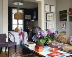 A Paris Apartment. Oh my goodness, this is perfect for my living room.