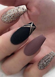 25 Most Impressive Ombre Black Long Acrylic Coffin Nails : Create Your Best Impr Nageldesign Fall Acrylic Nails, Cute Acrylic Nails, Acrylic Nail Designs, Acrylic Box, Coffin Nail Designs, Simple Nail Art Designs, Stylish Nails, Trendy Nails, Nagellack Design