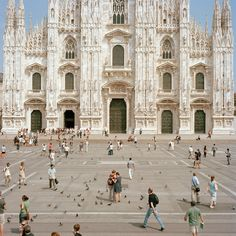 Piazza del Duomo, Milan, Italy. I played with so many pigeons and crazy people in this piazza, I shall never forget.