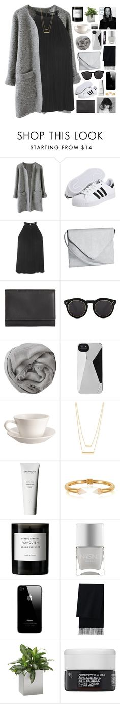 """// amnesia //"" by ughtara ❤ liked on Polyvore featuring adidas, Topshop, H&M, Maison Margiela, Illesteva, Brunello Cucinelli, Marc by Marc Jacobs, Kenzie, Bourg-Joly Malicorne and Jennifer Zeuner"