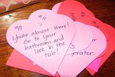 Happy valentines card messages are exchanged greatly on this day. This day is mainly related to exchange of love notes or love letters by means of valentines. Valentines Card Message, Valentines Diy, Husband Anniversary, Happy Anniversary, Anniversary Ideas, Romantic Scavenger Hunt, Cute Boyfriend Gifts, Boyfriend Ideas, Couple Activities