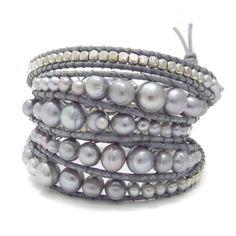 Gemstone Snake Cord Wrap Bracelet