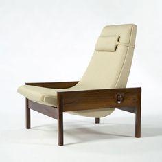 sergio rodrigues / vintage leather + mahogany