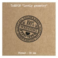Tampon mariage prénoms + date Lovely Geometry