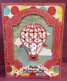Hot Air Baloon handmade card. Cut with the Cricut =} Made by Craft Me a Card.