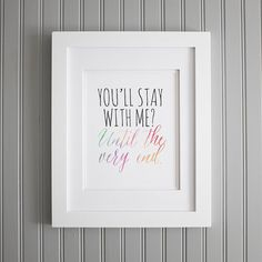 You'll Stay with Me frame