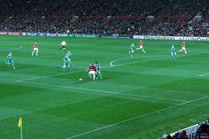 Old Trafford in Manchester; Champions League mit dem VfL Wolfsburg bei Manchester United am 30. September 2009