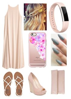 """""""Pretty Pink Please"""" by samanthathegymnast on Polyvore featuring Billabong, Jessica Simpson, Casetify, Fitbit and Whistles"""