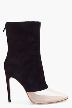 Alexander Wang -  Black Suede Cameron Ankle Boots
