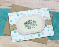 """Partners In Crime Note Card, Friends, Friendship, BFF, Sisters At Heart, Best Friend, Thinking of You, Birthday, Just Because - 5.5"""" x 4"""" by PaperDahlsLLC on Etsy"""