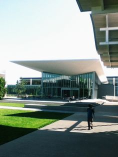 Architecture at Newport Beach Civic Center and Public Library