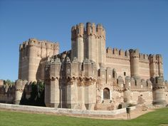 XV century medieval Mudéjar castle -- Coca, Segovia, Spain