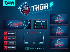 Thor Twitch Channel Design by Alec Des Rivières on Dribbble Youtube Banner Design, Youtube Banners, Editing Writing, Writing A Book, Branding Design, Logo Design, Graphic Design, Twitch Channel, Campaign Logo