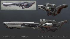 ArtStation - Nano Sniper Rifle, Kevin O'Neil