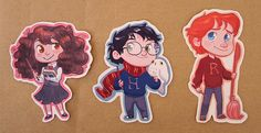 The Golden Trio stickers by lisaveeee on Etsy 2 bucks each, 5 bucks for all 3