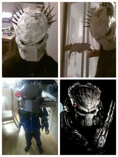 I made my own predator mask!☆ :D