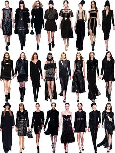 Fall/Winter 2013 Trend: Blackout   In honor of the premiere of American Horror Story: Coven, I've gathered a selection of the most bew...