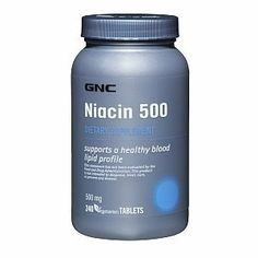 GNC Niacin 500 240 Tablets by GNC. $37.50. Each tablet supplies 500 mg of Niacin. Niacin offers many benefits: Functions as a coenzyme in glucose oxidation.Provides dietary support for a healthy blood lipid profile.*Plays an important function in energy metabolism.* Kosher and Vegetarian. Small, convenient tablets. * These statements have not been evaluated by the Food and Drug Administration. This product is not intended to diagnose, treat, cure, or prevent any disease.