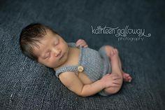 Newborn Bib Overalls, free knit pattern via Ravelry