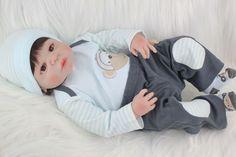 Bebe Reborn Denis com 55cm Inteiro em Silicone - Loja da Bebe Reborn - Frete Grátis p/ todo o Brasil