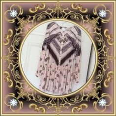 "Free People ""From your Heart"" boho dress Free People size small beautiful boho dress, pink, brown and lavender, new with tags. Free People Dresses"