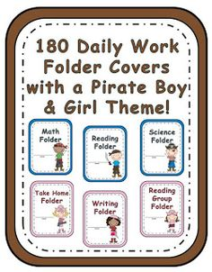 Pirate Themed Daily Folder Covers! at Fern Smiths Classroom Ideas!