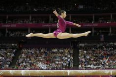 gymnast Alexandra Raisman performs on the balance beam during the artistic gymnastics women's individual all-around competition at the 2012 Summer Olympics Thursday Aug. 2 2012 in London. All Around Gymnastics, Gymnastics Team, Artistic Gymnastics, Olympic Gymnastics, Cheerleading, Gymnastics Quotes, Amazing Gymnastics, Rhythmic Gymnastics, Olympic Games Sports