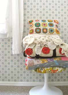 Knit & purl....reminds me of my grandma