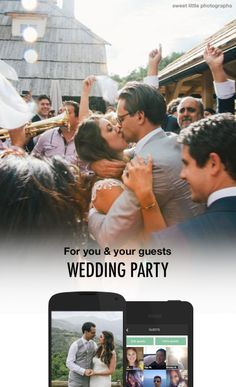 Check out this free wedding app! Capture all guest photos, share important wedding info, and stay connected with guests and the bridal party!