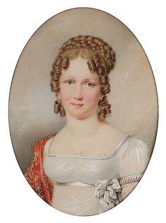 1815 Maria Leopoldine of Austria, Future Empress of Brazil by Friedrich Johann Gottlieb Lieder